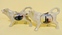 Geneva and Antwerp souvenir cow creamers