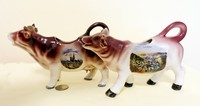 Munch and Bad Ems souvenir cow creamers