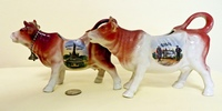 Niederwald and Altenburg souvenir cow creamers