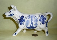 Paris souvenir cow creamer
