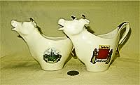 Villeroy & Boch souvenir cow creamers from Luxembourg and Clervaux