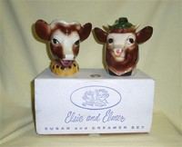 Elsie and Elmer sugar and creamer in original box