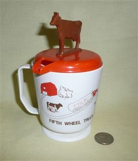 Canadian travel mug with cow