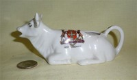 Shelly China Notti9ngham crested cow creamer