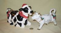 santa cow teapot and creamer