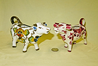 2 Delft cow creamers from Regina factory