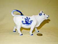unmarked light Delft cow creamer
