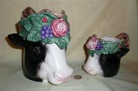 Fitz & Floyd Heidi Holstein pitcher and cup