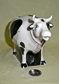 Tom Hatton standing cow creamer, front