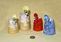 4 S&V Mother Goose creamers