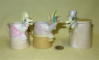 Horchow Mother Goose creamer and Mate sugar