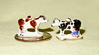 2 V&R cow creamers with milkmaid