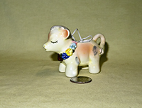 Christmas ornament cow creamer