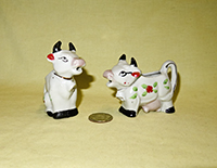 Sitting and Standing Japanese cow creamers