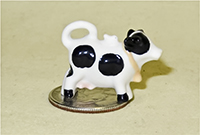Miniature Holstein cow teapot