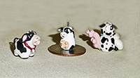 3 more miniature cow teapots