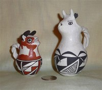 Acoma cow creamers by A.Pasqual and Rose Leno
