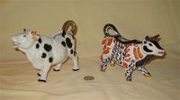 2 Japanese lustre cow creamers