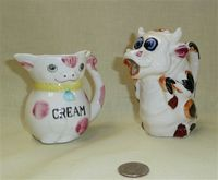 Japanese cow creamer and pitcher