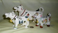 Three more Japanese cow creamer versions, different sizes