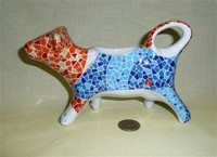Brightly colored cow creamer from Spain