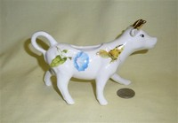 Gracie China white cow creamer with flower and butterfly