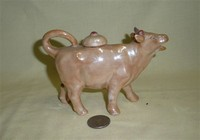 Light brown UK cow creamer with lid