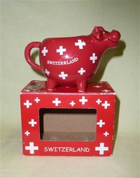 Red swiss cow creamer by Cotfer