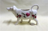 Goebel white cow creamer with flowers