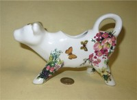 C.Pabst German cow creamer with buterflies