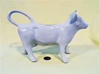 Very large white French cow creamer