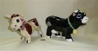 Japanese bull and cow creamers