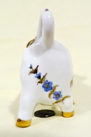 Small French pporcelain cow creamer witth flowers and gold trim, butt
