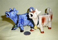 Two smaller versiuons of the 'Kenmar-style' cow creamer