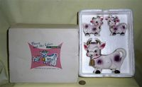Boxed 'Bossy' cow version, creamer and S&P