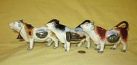 Lovely German cow creamers from Hannover, Berlin and Keil