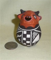 Small Acoma cow creamer by Loyce L.