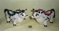 Two unusual short-legged cow creamers