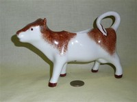 Lamalle French brown and white cow creamer
