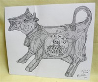 Oli Fowler's sketch of Peppt the Cow