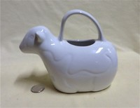 SOFAL Portugal white cow caricature creamer with loop handle