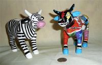 Cow Parade 'Zow Cow' and 'Lightfoot' creamers