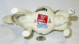 Men at work cow creamer belly