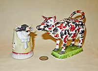 Caricature and colorful cow creamers
