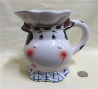 Large cow chef pitcher