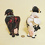 Jezebel and Penope cow creamers,back