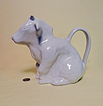 Squat white cow pitcher by Potterybarn