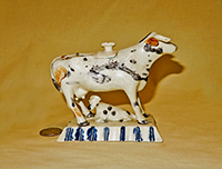 Small early Leeds cow creamer, side