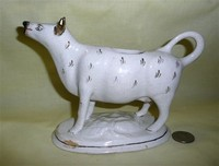 White cow creamer with long neck