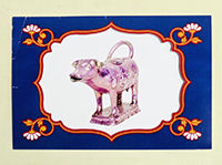 Potteries photo of purple lustre cow